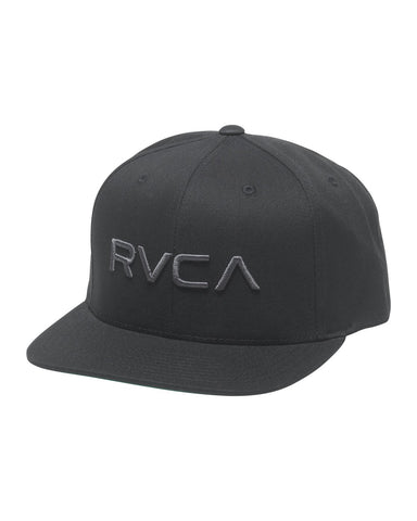 BOY'S RVCA TWILL SNAPBACK III HAT - black/charcoal