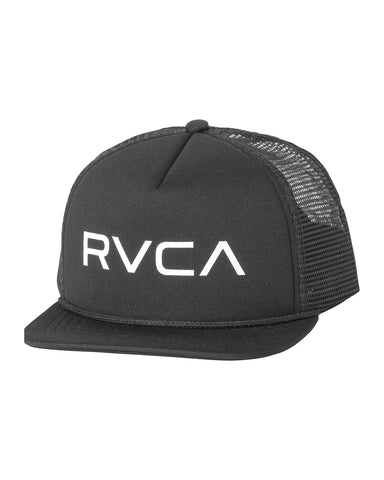 BOY'S RVCA TWILL SNAPBACK III HAT - black