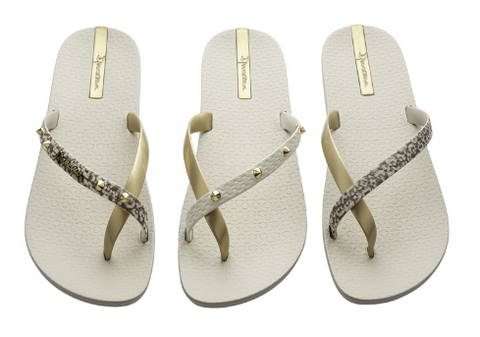 IPANEMA Pair of 3 Sandals Beige Gold