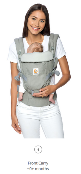 Adapt Baby Carrier: Black