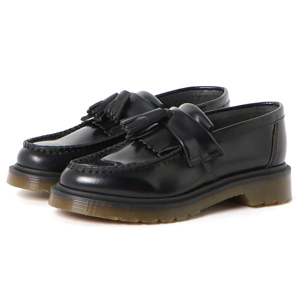 R24369001 Adrian Tassel Loafer Unisex Black Polished Smooth