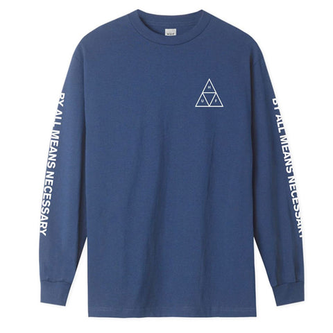 ESSENTIALS TT L/S TEE INSIGNIA BLUE