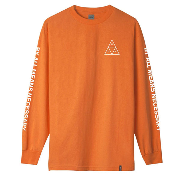 ESSENTIALS TT L/S TEE RUSSET ORANGE