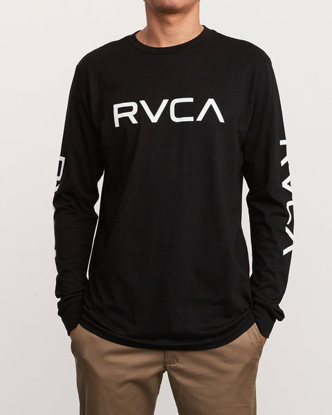 BIG RVCA LONG SLEEVE T-SHIRT BIG RVCA LS - black
