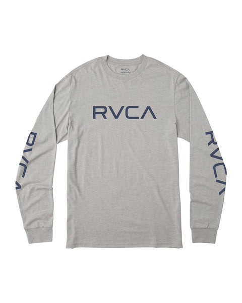 BIG RVCA LONG SLEEVE T-SHIRT BIG RVCA LS - grey noise