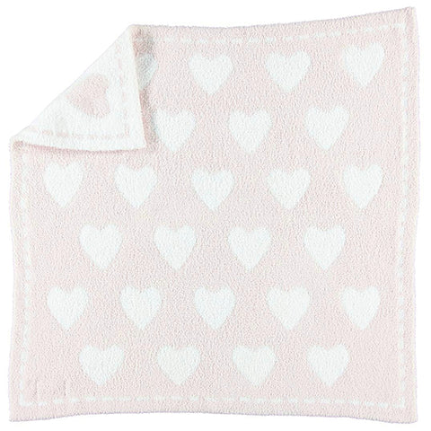 Cozychic Throw B531-65-HE - PINK/WHITE HEARTS