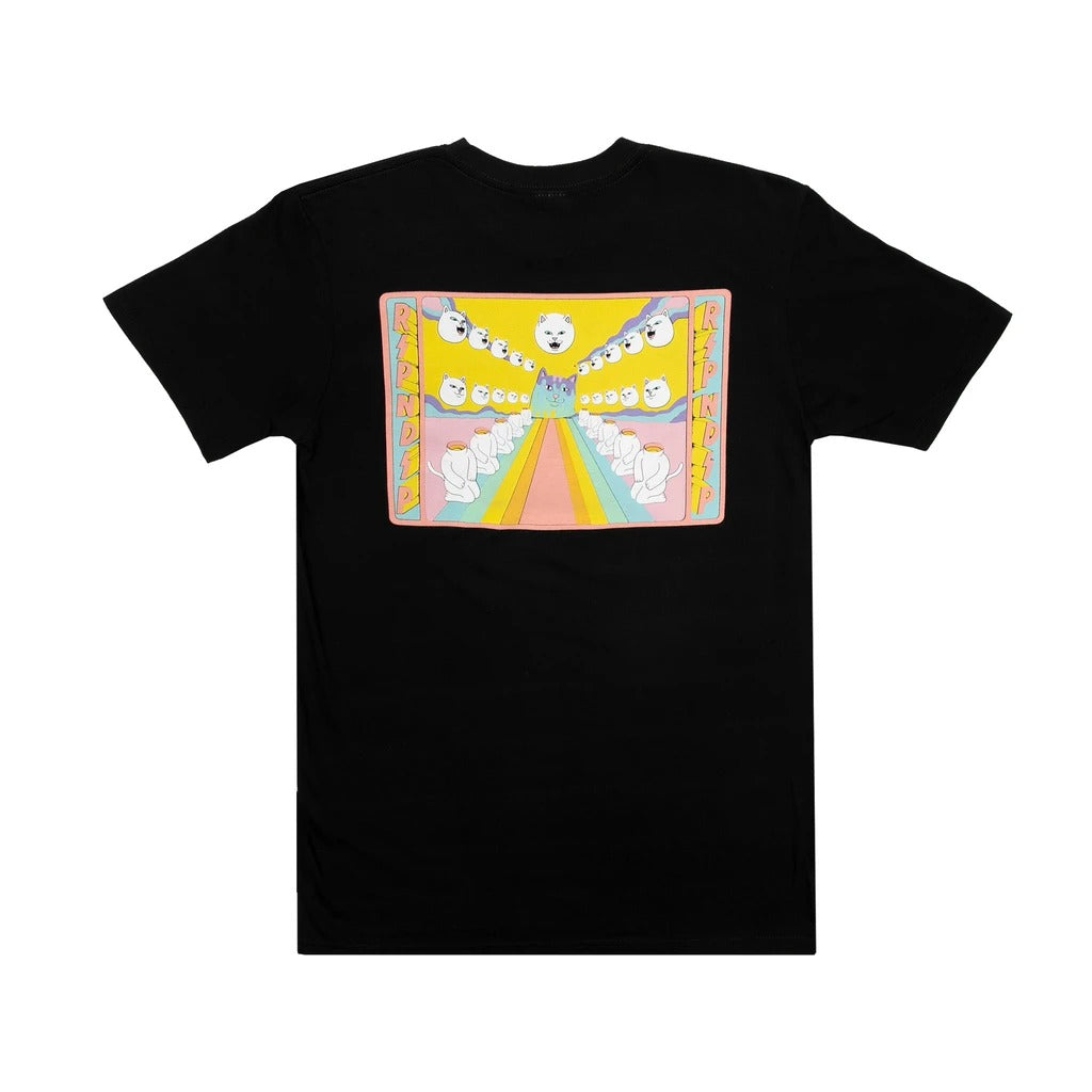 RND4353 Rainbow Road Pocket Tee - Black