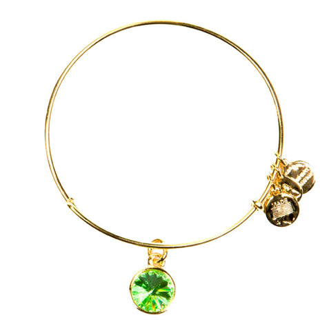 August Birth Month Charm Bangle