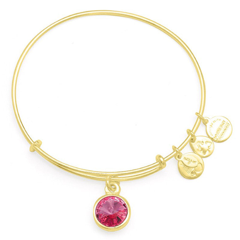 October Birth Month Charm Bangle