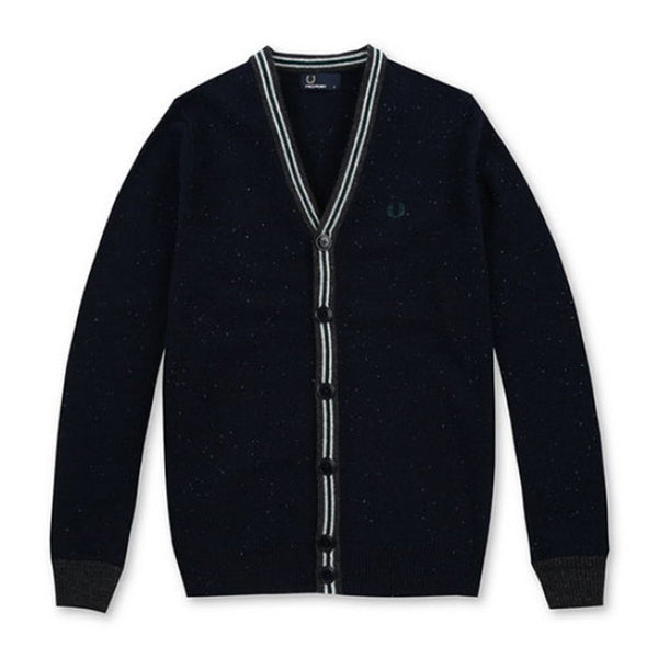 FRED PERRY FLECK KNIT TENNIS CARDIGAN