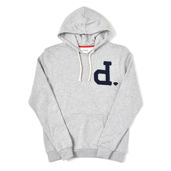 Un-Polo Men's Pullover Hoodie Heather Grey