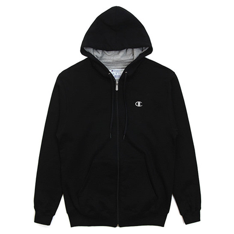 CHAMPION Men's Eco Fleece Full-Zip Hoodie Black