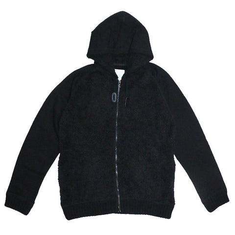 Cotton Blanket Hoodie Black