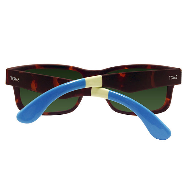 Culver Matte Tortoise Off white Green Grey Lens Sunglasses
