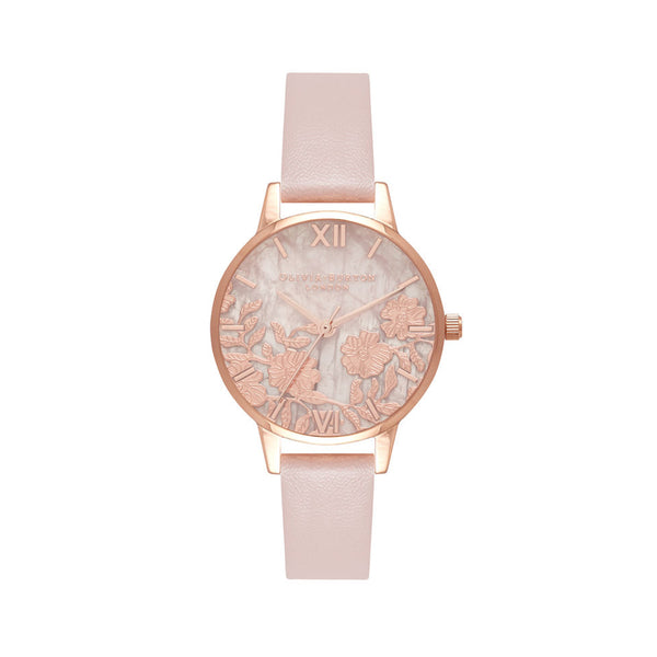 Semi Precious Rose Quartz Vegan Rose Sand & Rose Gold OB16MV84