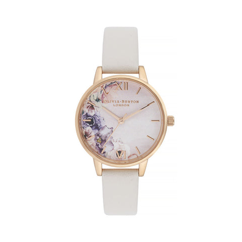 Watercolour Florals Midi Dial Watch OB16PP54