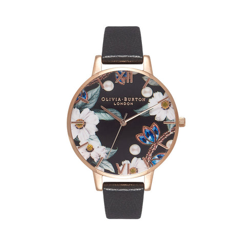 Bejewelled Rose Gold Watch OB16BF04