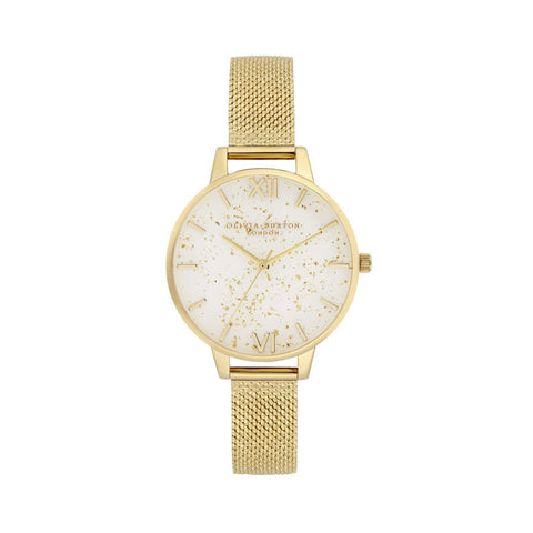 Celestial Demi Dial Watch with Boucle Mesh OB16GD15