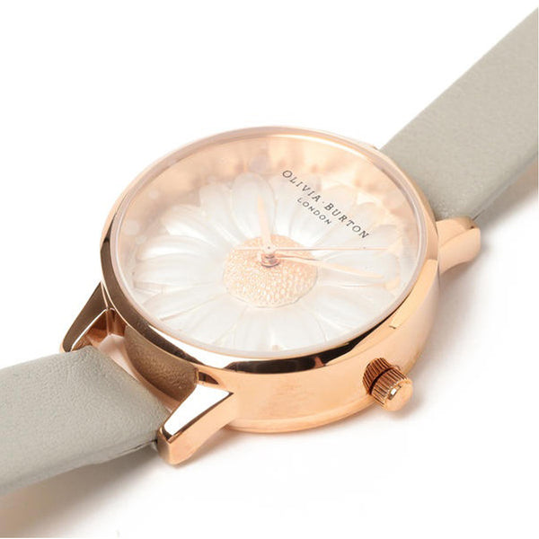 3D Daisy Grey & Rose Gold Watch  OB15EG50