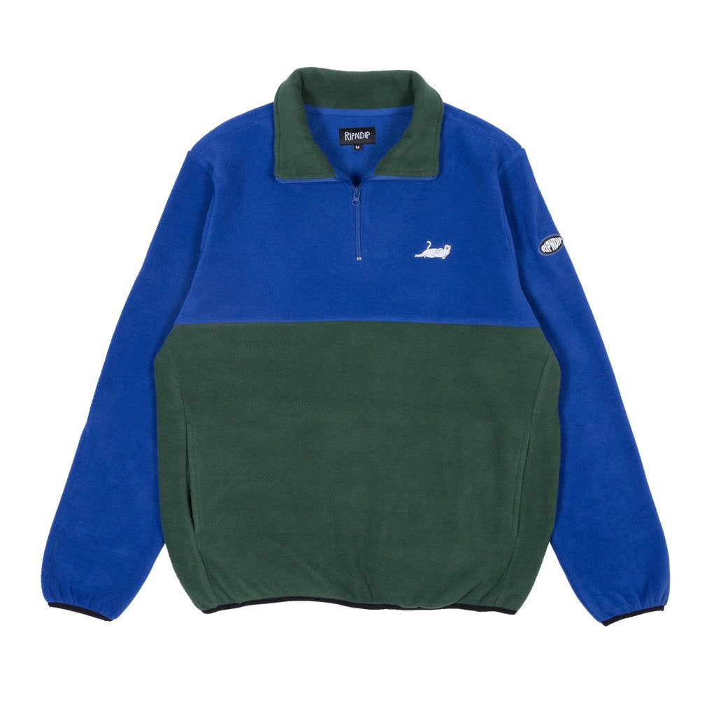 Castanza 3/4 Zip Up RND2910 (Navy / Hunter Green)