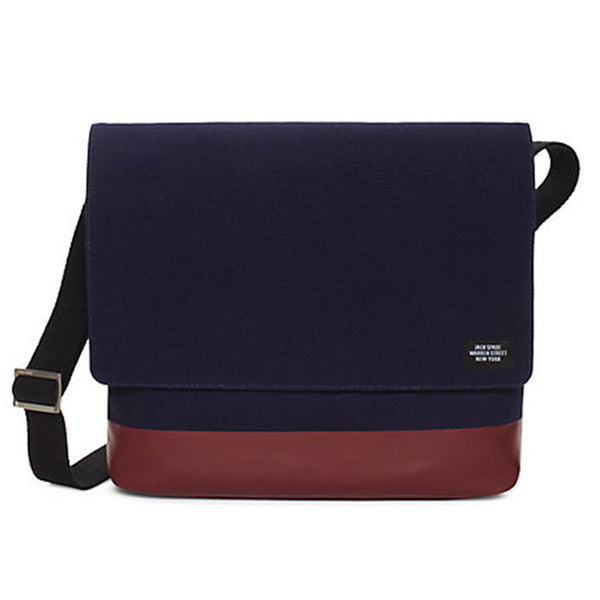 Jack Spade Canvas Messenger Bag Navy/Marron