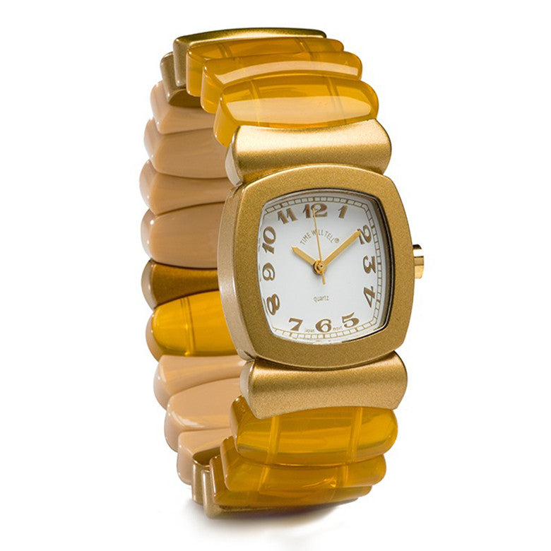 Time Will Tell Ladies Monotone Gold
