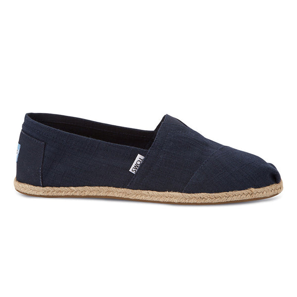 Mens Classic Navy Textured Linen