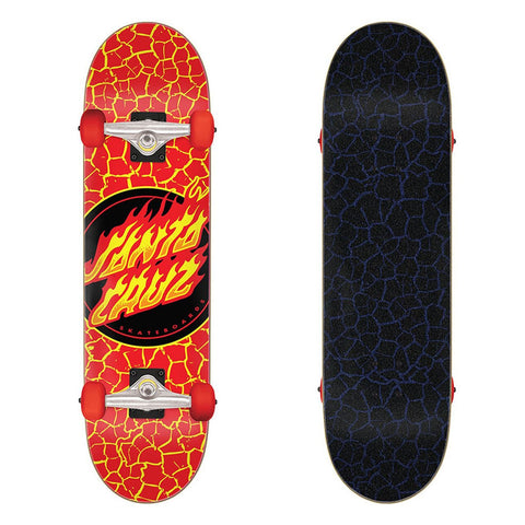 Flame Dot Large Sk8 Completes 8.25in x 31.5in Santa Cruz