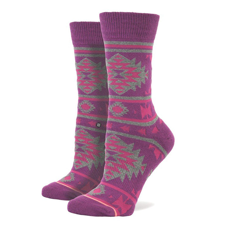 Stance Plum Nu Native Womens Socks