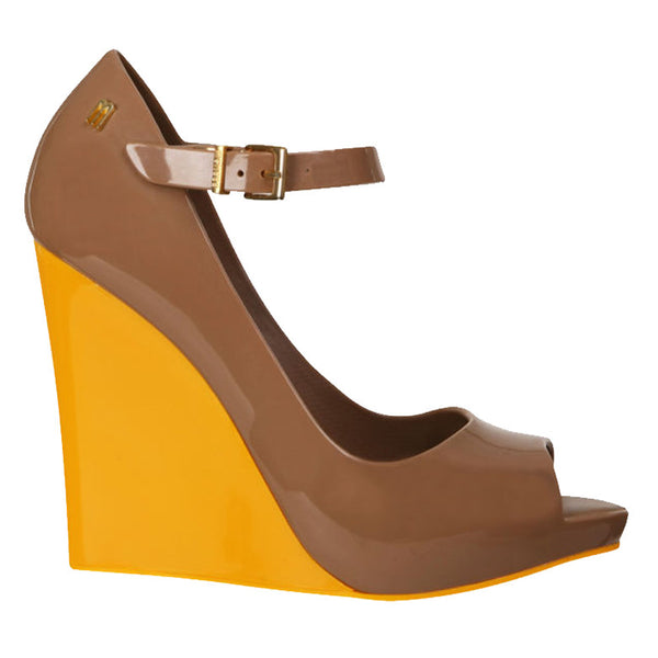 Melissa Taupe Prism Women's Color Block Wedge Shoes