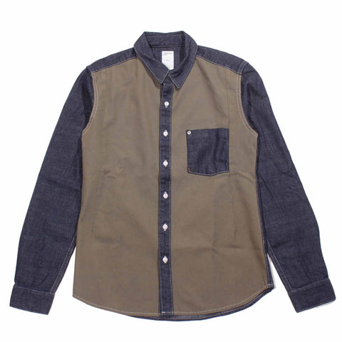 Color Block Denim Cotton Shirt