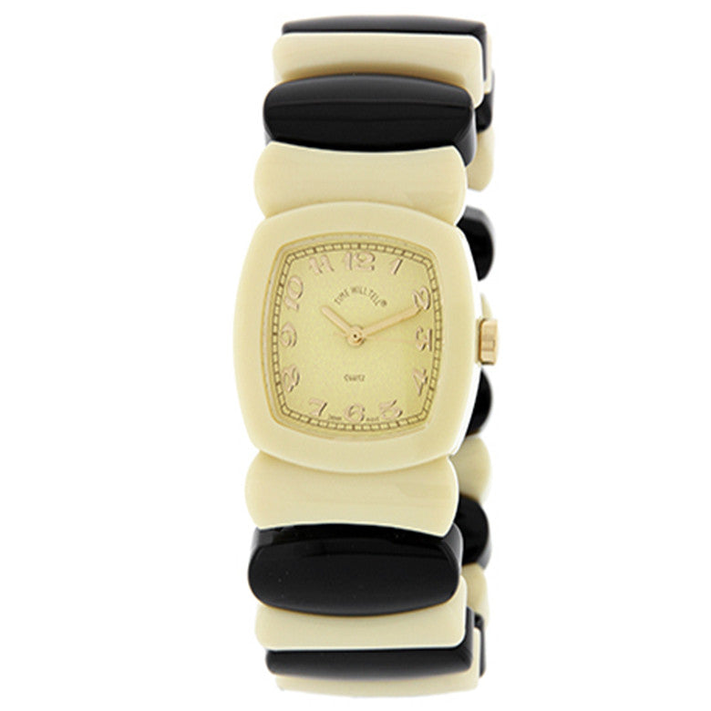 Time Will Tell Ladies Watch Rainbow Ivory Black