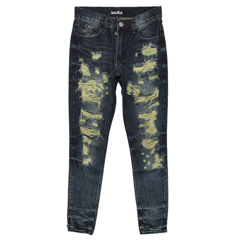 SPECIALE RIPPED STANDARD DENIM DARK INDIGO BLUE