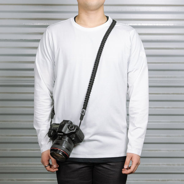BRAIDED CAMERA STRAP SRP-BS-BLK-L  BLACK