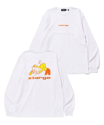 L/S TEE MAKING STICKER WHITE
