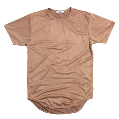Suede Original Long T-Shirt Camel Sand