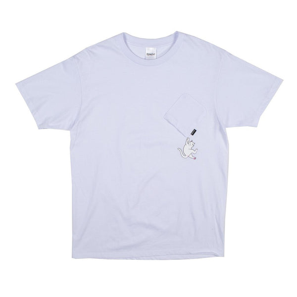 Hang In There Nermal Pocket Tee White