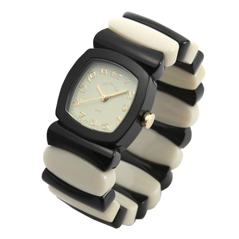 Time Will Tell Ladies Watch Rainbow Black Ivory