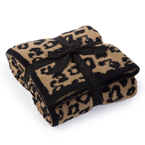 CozyChic 'BITW' Adult Wild Throw  B563-86-LE(B563-022-LE) - Camel/Black