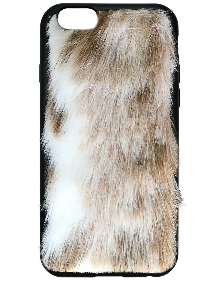 Snow Leopard Faux Fur iPhone 6/6s Case