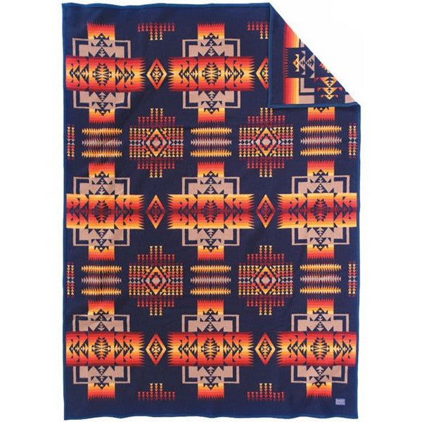 Chief Joseph Crib Blanket  Indigo
