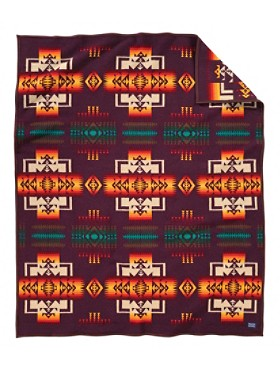 Chief Joseph Blanket  Maroon