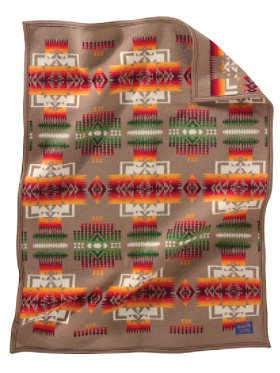 Chief Joseph Crib Blanket  Khaki
