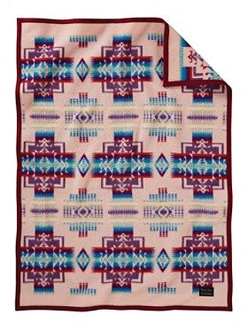 Chief Joseph Crib Blanket  Pink