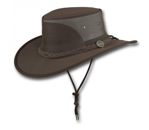 Barmah 1057-Canvas Drover -Brown