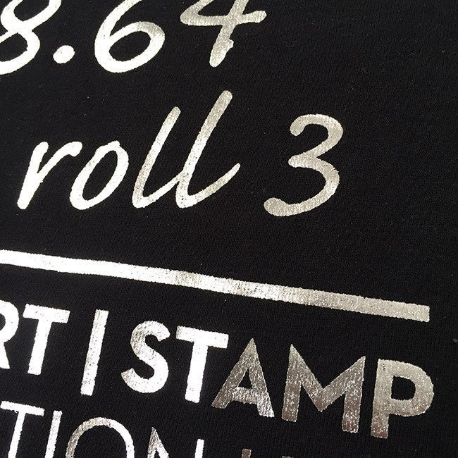 Lambert & Stamp Black High Numbers T-Shirt Closeup2