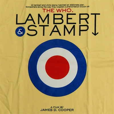Lambert & Stamp Yellow Target T-Shirt Closeup