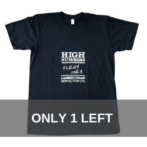 Lambert & Stamp Black High Numbers T-Shirt