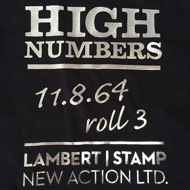 Lambert & Stamp Black High Numbers T-Shirt Closeup