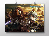 A3 Clear Poster Sword Art Online II Kirito and Sinon Penguin Parade [IN STOCK]